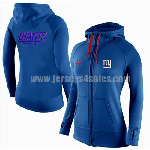 Women's New York Giants Royal Blue Nike Stadium Rally Full Zip NFL Hoodie
