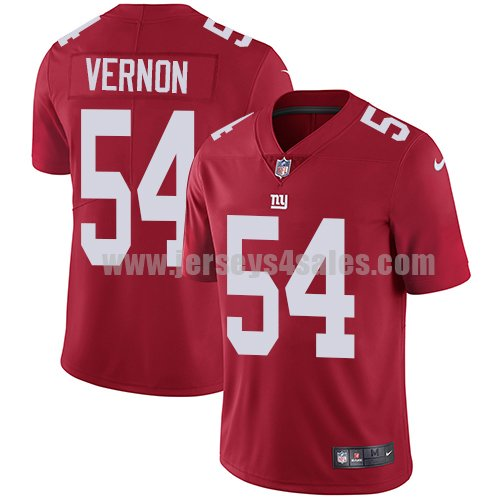 Men's New York Giants #54 Olivier Vernon Red Nike NFL Vapor Untouchable Limited Jersey