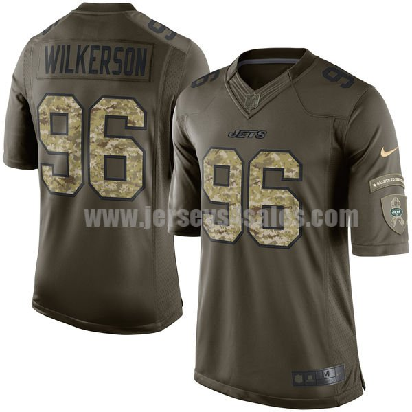 Men's New York Jets #96 Muhammad Wilkerson Green Stitched Nike NFL Salute To Service Limited Jersey