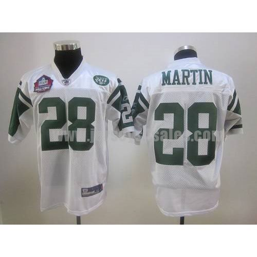 Jets #28 Curtis Martin White Hall of Fame 2012 Stitched NFL Jersey