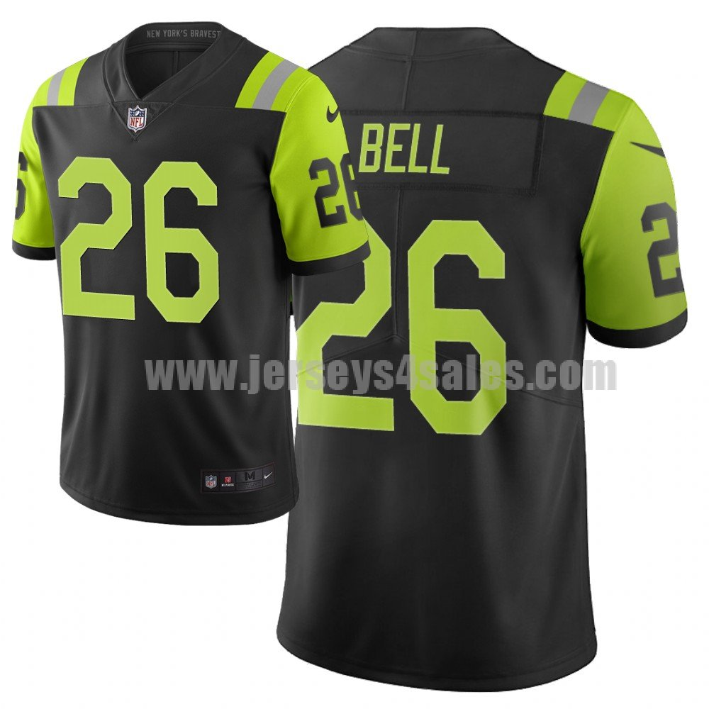 Men's New York Jets #26 Le'Veon Bell NFL City Edition Green Jersey