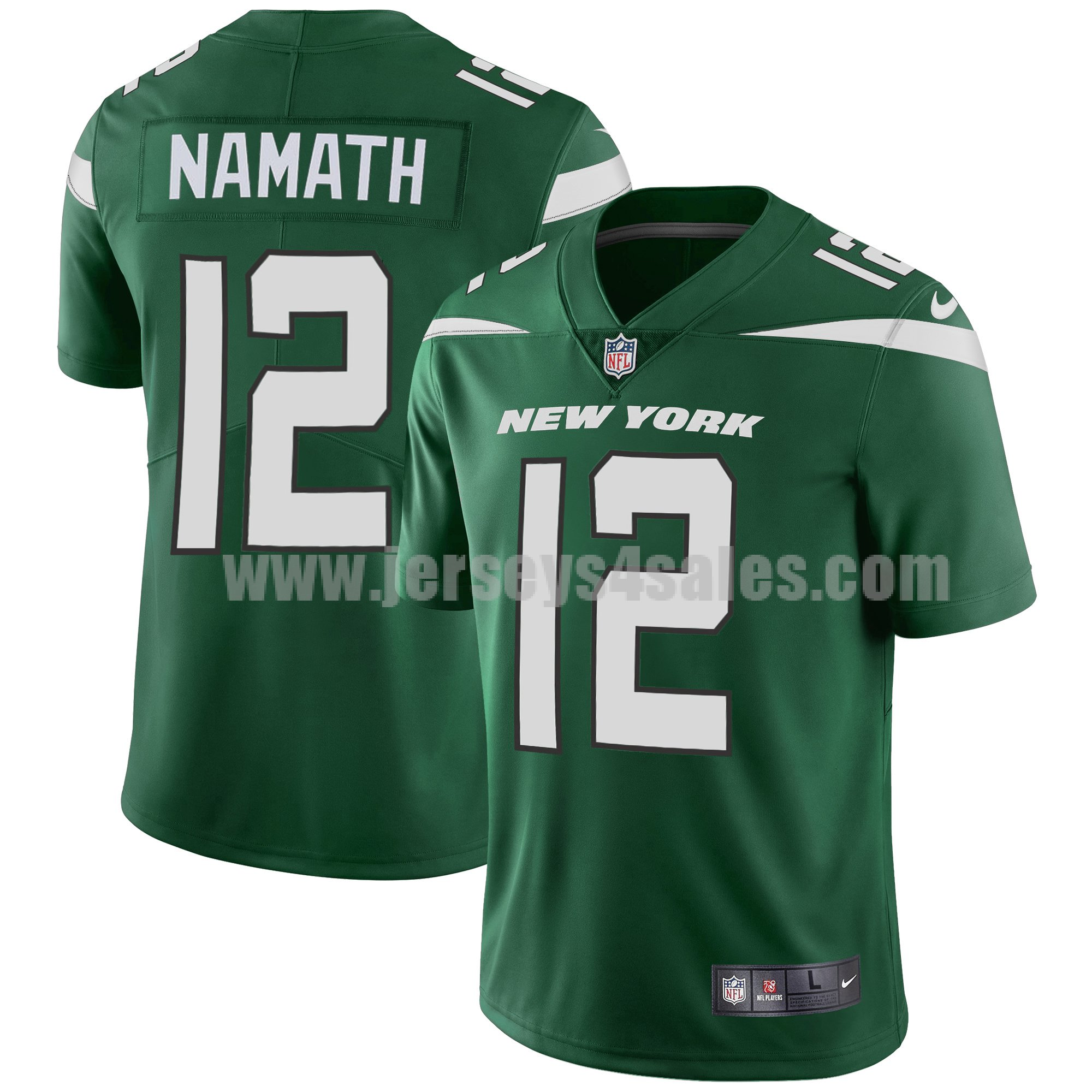 Men's New York Jets #12 Joe Namath Nike Green Limited Jersey