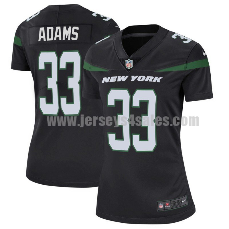 Women's New York Jets #33 Jamal Adams Nike Black Player Limited Jersey