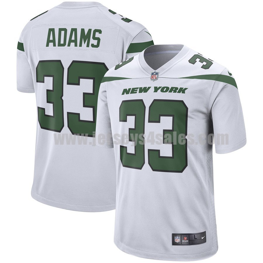 Men's New York Jets #33 Jamal Adams Nike White Player Limited Jersey