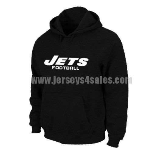 New York Jets Authentic Font Pullover Hoodie Black