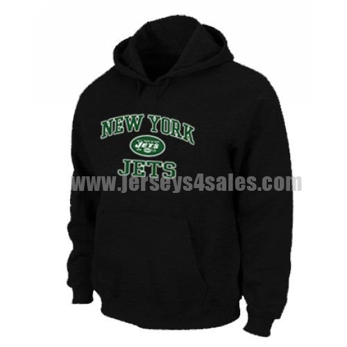 New York Jets Heart & Soul Pullover Hoodie Black