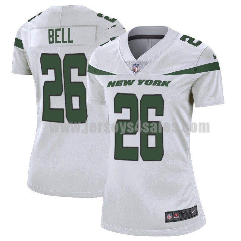 Women's New York Jets #26 Le'Veon Bell Nike White Limited Jersey