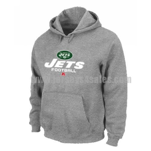 New York Jets Critical Victory Pullover Hoodie Grey