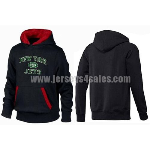 New York Jets Heart & Soul Pullover Hoodie Black & Red