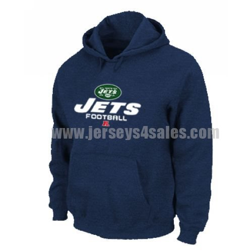 New York Jets Critical Victory Pullover Hoodie Dark Blue