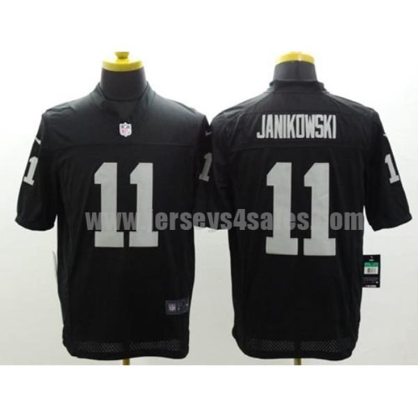 Nike Raiders #11 Sebastian Janikowski Black Team Color Men's Stitched NFL Limited Jersey