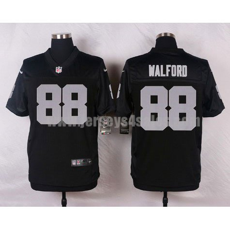 Men's Oakland Raiders #88 Clive Walford Black Stitched Nike NFL Home Elite Jersey