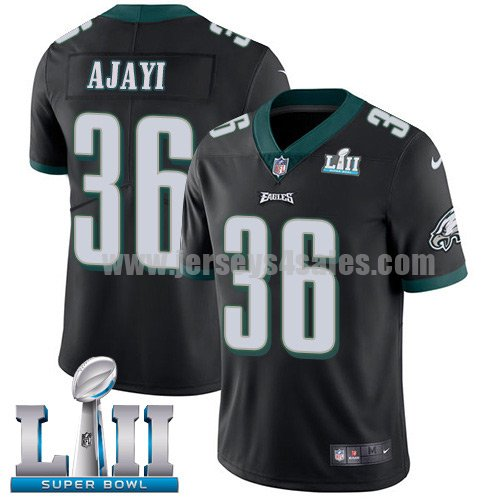 Nike Eagles #36 Jay Ajayi Black Alternate Super Bowl LII Youth Stitched NFL Vapor Untouchable Limited Jersey