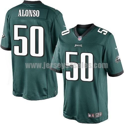 Nike Eagles #50 Kiko Alonso Midnight Green Team Color Men's Stitched NFL New Limited Jersey