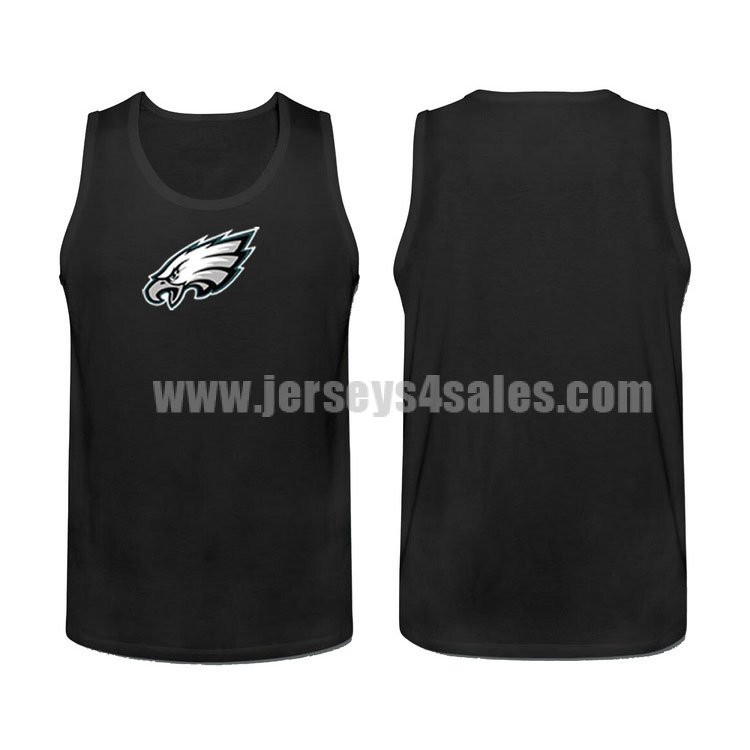 Men's Philadelphia Eagles Cotton Team Nike NFL Black Tank Top