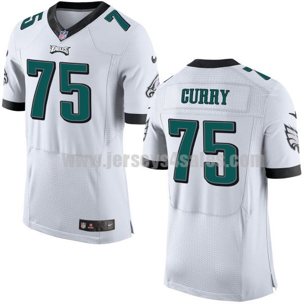 Men's Philadelphia Eagles #75 Vinny Curry White Stitched Nike NFL Road Elite Jersey