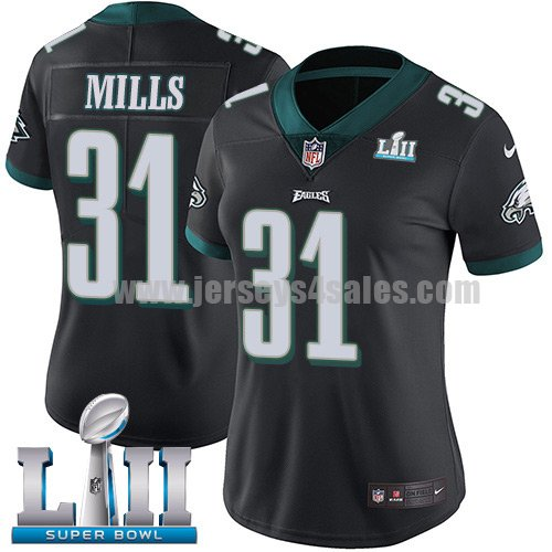 Nike Eagles #31 Jalen Mills Black Alternate Super Bowl LII Women's Stitched NFL Vapor Untouchable Limited Jersey