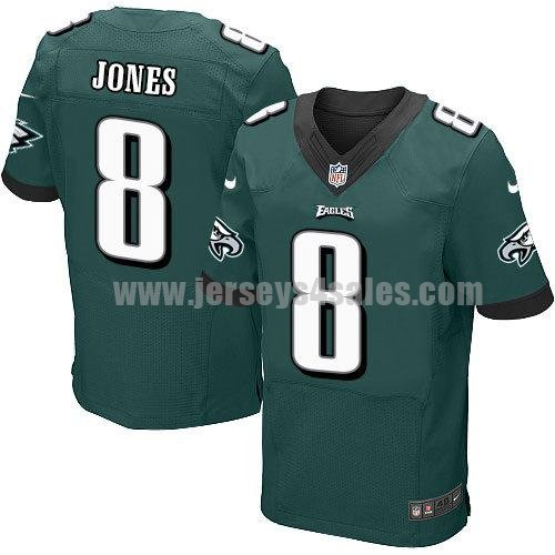 Men's Philadelphia Eagles #8 Donnie Jones Midnight Green Team Color Stitched New Nike NFL Elite Jersey
