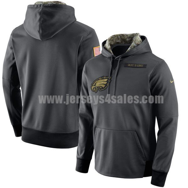 Men's Philadelphia Eagles Nike Anthracite Salute to Service NFL Performance Hoodie