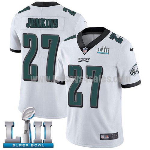 Nike Eagles #27 Malcolm Jenkins White Super Bowl LII Men's Stitched NFL Vapor Untouchable Limited Jersey