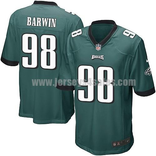 Youth Philadelphia Eagles #98 Connor Barwin Midnight Green Stitched Nike NFL Home Elite Jersey