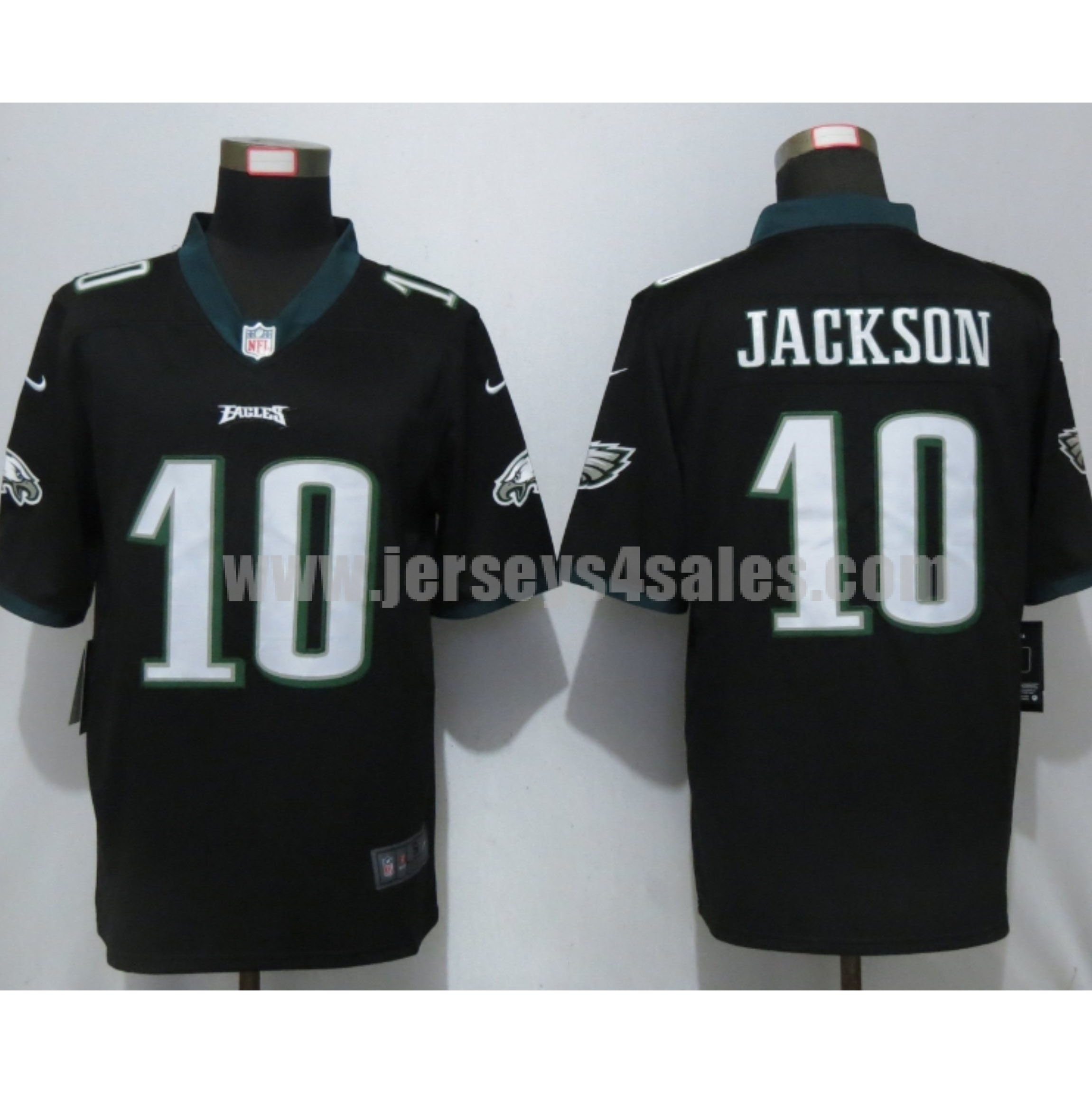 Men's Nike Philadelphia Eagles #10 DeSean Jackson Black Vapor Untouchable Limited Player Jersey