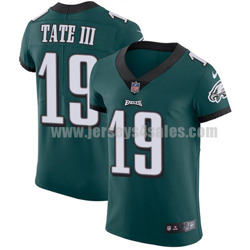 Nike Philadelphia Eagles #19 Golden Tate III Midnight Green Team Color Men's Stitched NFL Vapor Untouchable Elite Jersey