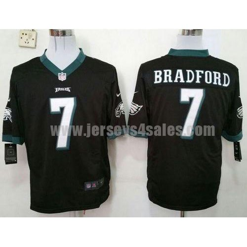 Men's Nike #7 Sam Bradford Black Alternate Philadelphia Eagles Stitched NFL Game Jersey