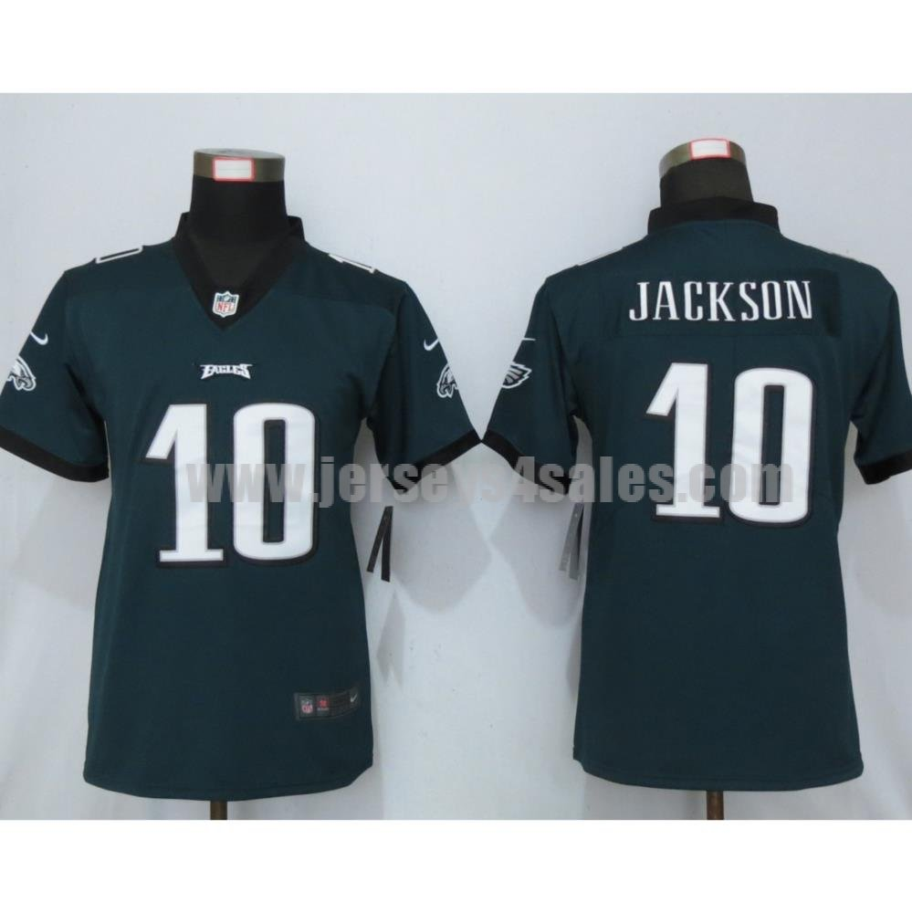 Women's Nike Philadelphia Eagles #10 DeSean Jackson Green Vapor Untouchable Limited Player Jersey