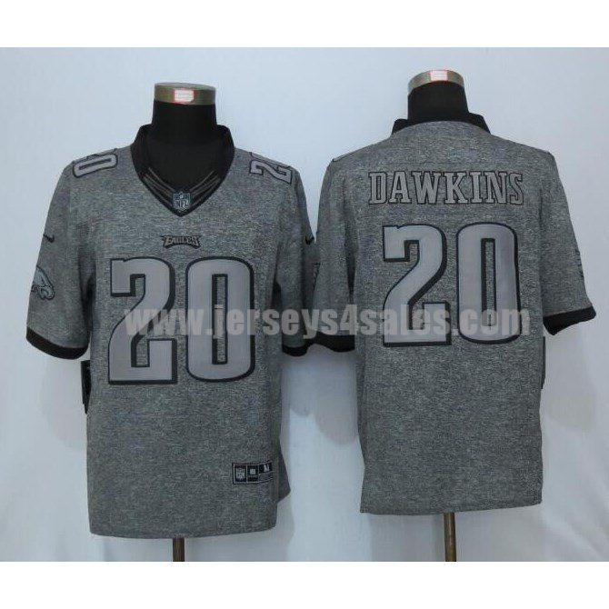 Men's Philadelphia Eagles #20 Brian Dawkins Grey Stitched Nike NFL Gridiron Gray Limited Jersey