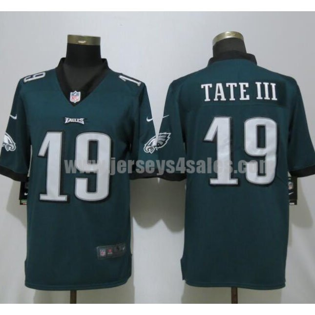 Men's Nike Philadelphia Eagles #19 Golden Tate III Midnight Green Team Color Stitched NFL Vapor Untouchable Limited Player Jersey