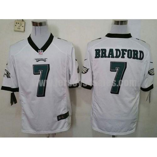 Men's Nike #7 Sam Bradford White Philadelphia Eagles Stitched NFL Game Jersey