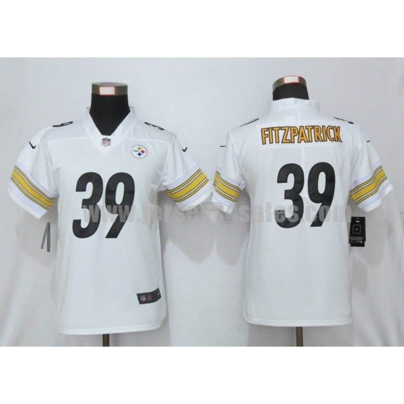 Women's Pittsburgh Steelers #39 Minkah Fitzpatrick White Nike NFL Vapor Untouchable Limited Jersey