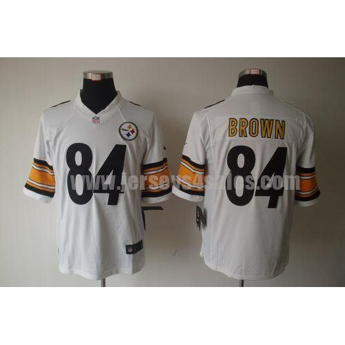 Nike Steelers #84 Antonio Brown White Men's Stitched NFL Limited Jersey