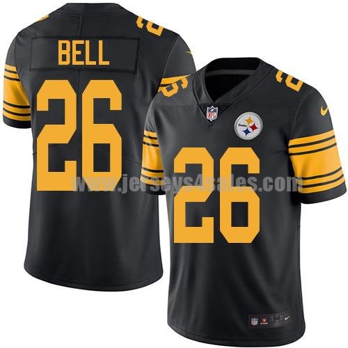 Men's Pittsburgh Steelers #26 Le'Veon Bell Black Stitched Nike NFL Color Rush Limited Jersey