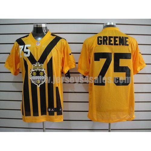 Nike Steelers #75 Joe Greene Gold 1933s Throwback Men's Embroidered NFL Elite Jersey