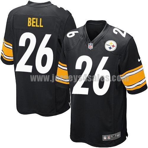 Nike Steelers #26 Le'Veon Bell Black Team Color Men's Stitched NFL Game Jersey