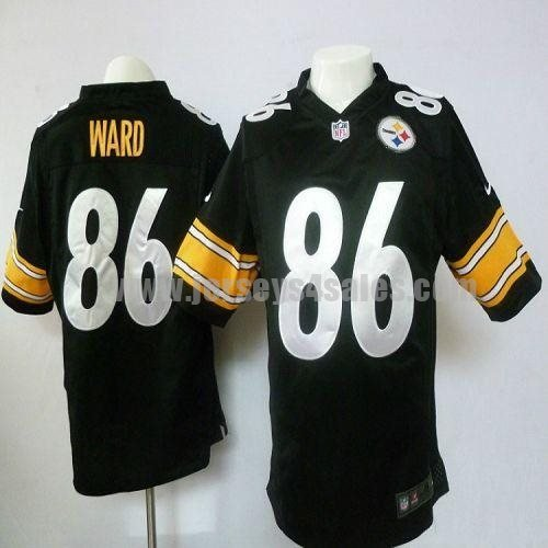 Nike Steelers #86 Hines Ward Black Team Color Men's Stitched NFL Game Jersey