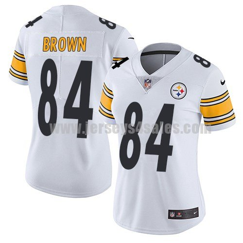 Women's Pittsburgh Steelers #84 Antonio Brown White Nike NFL Vapor Untouchable Limited Jersey
