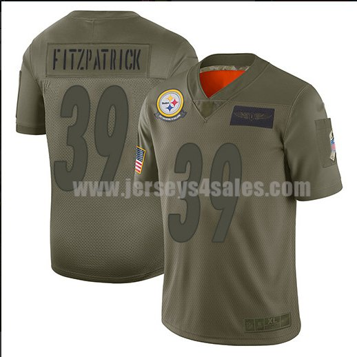 Men's Pittsburgh Steelers #39 Minkah Fitzpatrick Nike Camo 2019 Salute to Service Limited Jersey