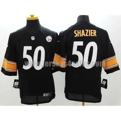Nike Steelers #50 Ryan Shazier Black Men's Stitched NFL Elite Jersey