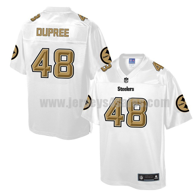Men's Pittsburgh Steelers #48 Bud Dupree White Pro Line NFL Fashion Game Jersey