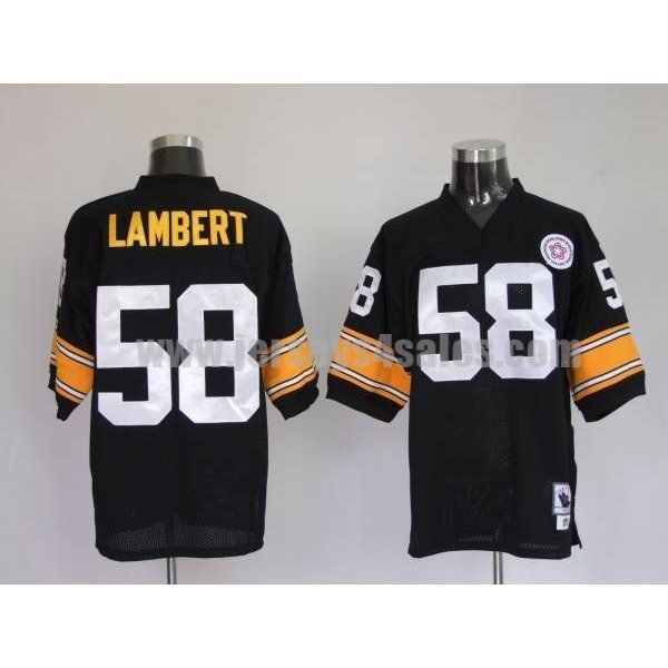 Mitchell & Ness Steelers #58 Jack Lambert Black Stitched Throwback NFL Jersey