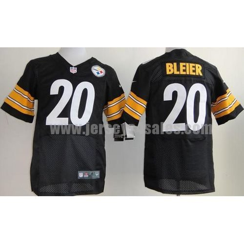 Nike Steelers #20 Rocky Bleier Black Team Color Men's Stitched NFL Elite Jersey