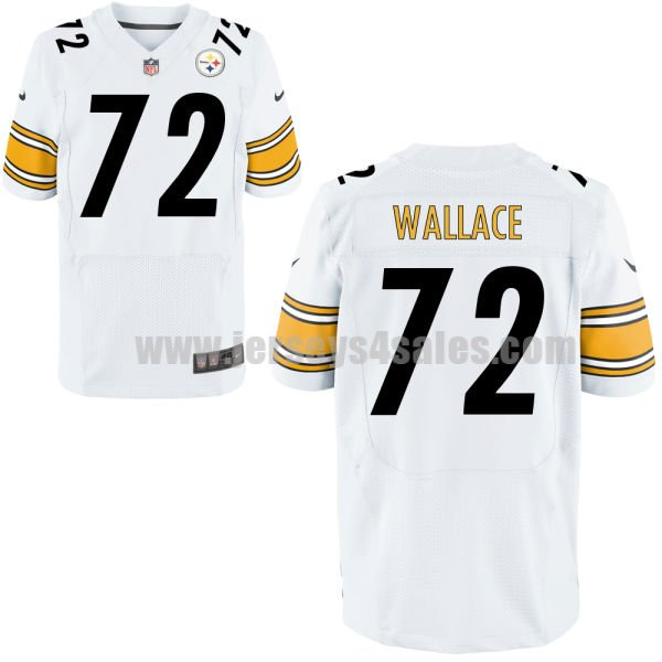 Men's Pittsburgh Steelers #72 Cody Wallace White Stitched Nike NFL Road Elite Jersey