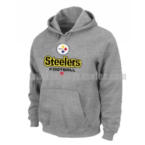 Pittsburgh Steelers Critical Victory Pullover Hoodie Grey