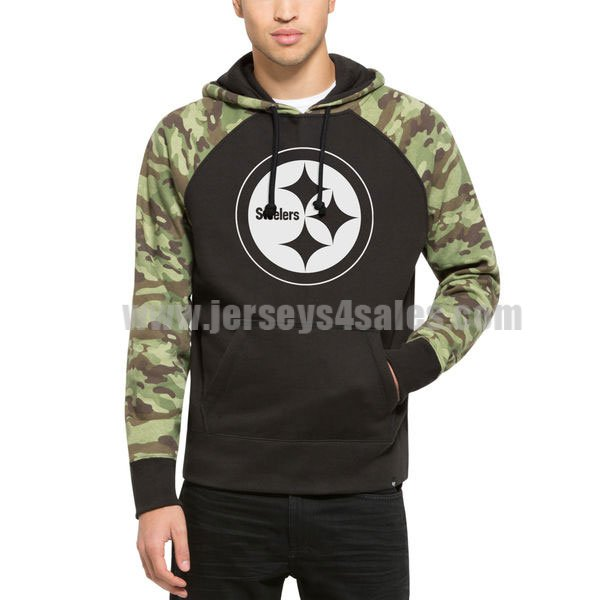 Men's Pittsburgh Steelers Black Alpha Hoodie