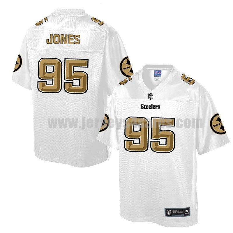 Men's Pittsburgh Steelers #95 Jarvis Jones White Pro Line NFL Fashion Game Jersey