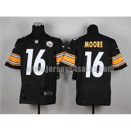 Nike Steelers #16 Lance Moore Black Team Color Men's Stitched NFL Elite Jersey
