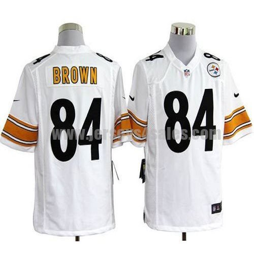 Nike Steelers #84 Antonio Brown White Men's Stitched NFL Game Jersey
